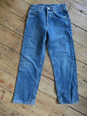 """Vintage Kids Sisley Jeans Girovita 23"""" Vita Alta Gamba Early C2000s 23"""" Perfetto Con- Lustro"""