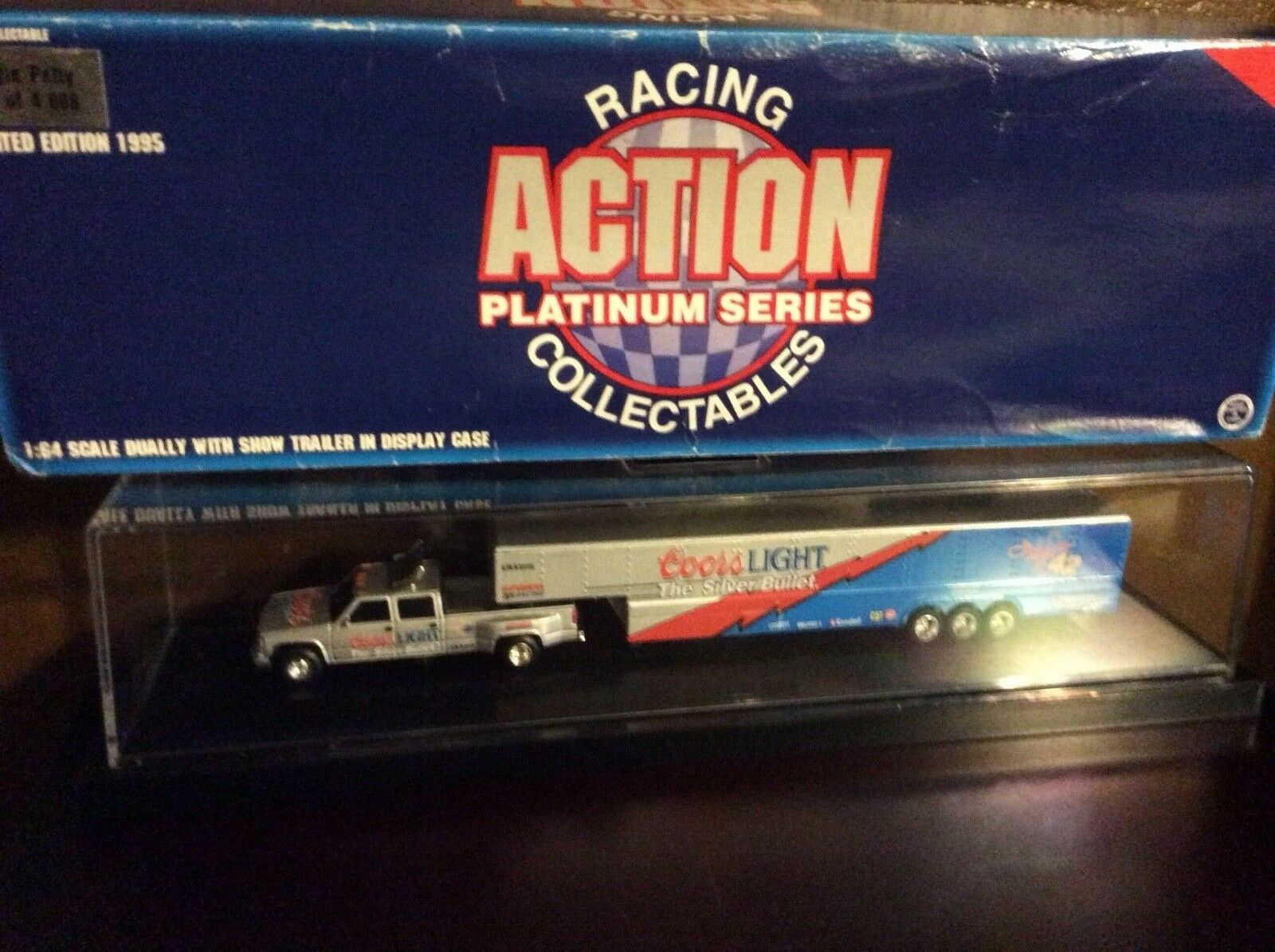 Coors lite Chevy dually show truck trailer Silber bullet Kyle petty pickup 1 64