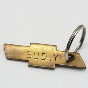 Vintage General Motors Pittsburgh Brass Chevrolet Key Fob Keyring