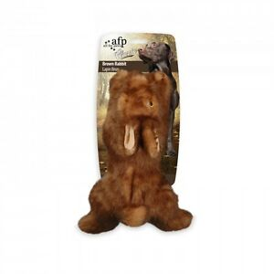 All-For-Paws-CLASSIC-BROWN-RABBIT-Dog-Toy-Realistic-Squeaker-SMALL-Eco-Friendly