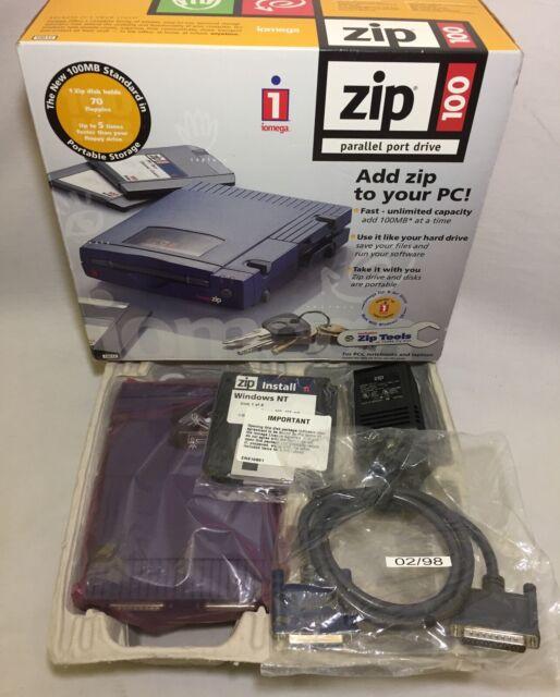 Iomega Zip 100mb Drive Model Z100p2 External Parallel For