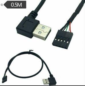 USB 2.0 un maschio a sinistra/destra angolo di Dupont 5 Pin Cavo Scheda Madre intestazione Donna