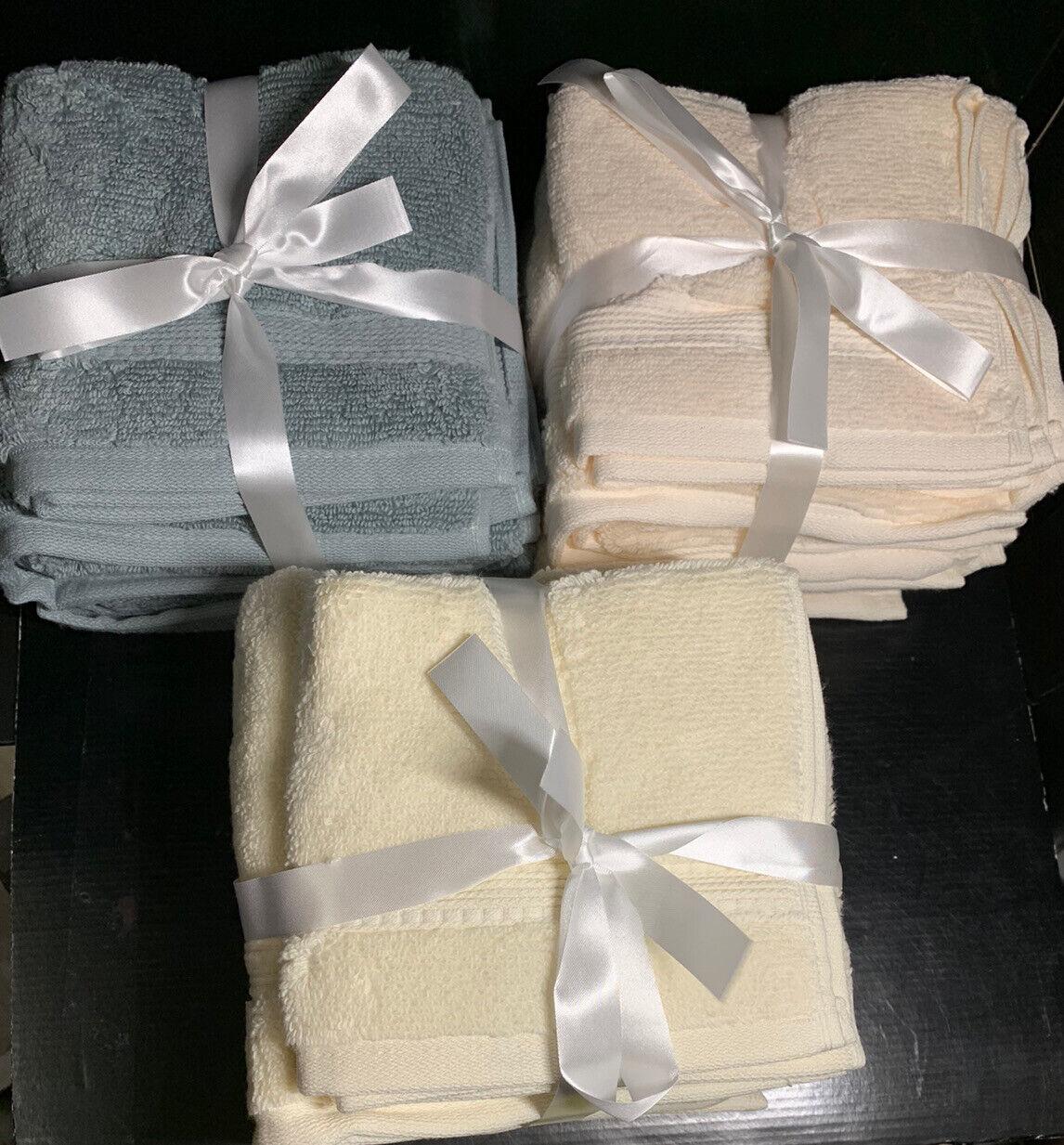 Charisma Soft 100% HygroCotton 4pk Hand &Washcloth Towel Set Aloe Ivory Sunlight