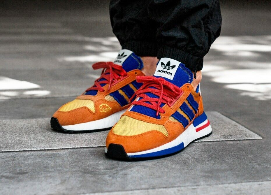 2019 Adidas ZX 500 RM Dragonball Z DBZ Son Goku orange bluee New 29cm