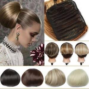 Elegant-Drawstring-Hepburn-Straight-Hair-Bun-Classical-Extensions-Clip-in-Hairs
