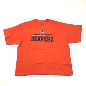 NEW Ovb Oregon State Beavers Shirt Men's Size 2XL 2X Sewn On Stitch Embroidery
