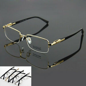 3785f77d481e Image is loading Pure-Titanium-Half-rimless-Spectacles-Men-Glasses-Optical-