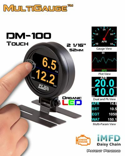 PLX Devices DM-100 OBD2 II TOUCH Scan Tool Gauge- FREE 2-DAY PRIORITY SHIPPING