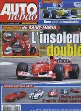 AUTO HEBDO n°1337 du 17 Avril 2002 GP SAN MARIN DOGE VIPER