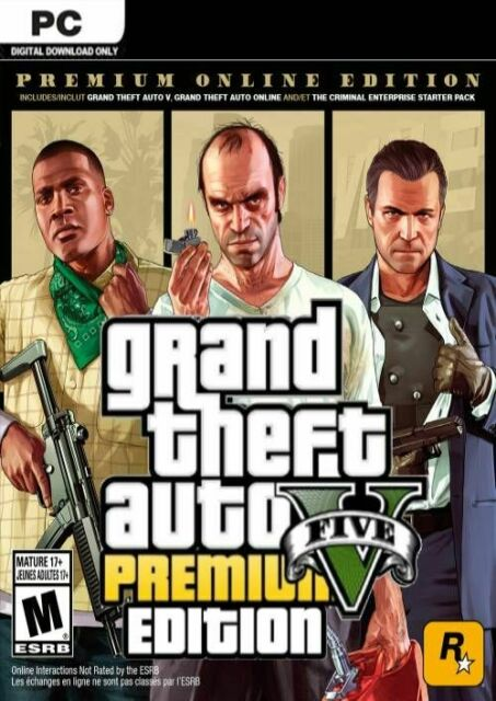 Grand Theft Auto V Edition Premium Online Digital Key Code GTA 5 For PC
