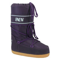 Purple Apres Ski Boots Euro Size 35-37 Uk 2 3 4 Ladies Kids Snow Space Boot