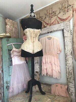 antique french stockman black wasp waist corset mannequin