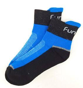Funkier Cycling Socks, Blue/Black, 4-7 / 35-38