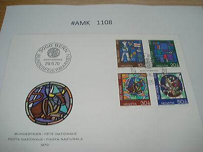 #amk1108 Beleg Brief Postkarte Ganzstück Europa Schweiz Bundesfeier 1970 Professionelles Design