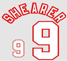 Euro 1996 Shearer 9 England Away Football Name set for National shirt