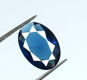 Ceylon Blue Sapphire Eye Clean Gemstone 4.20 Carat Oval Natural AGI Certified