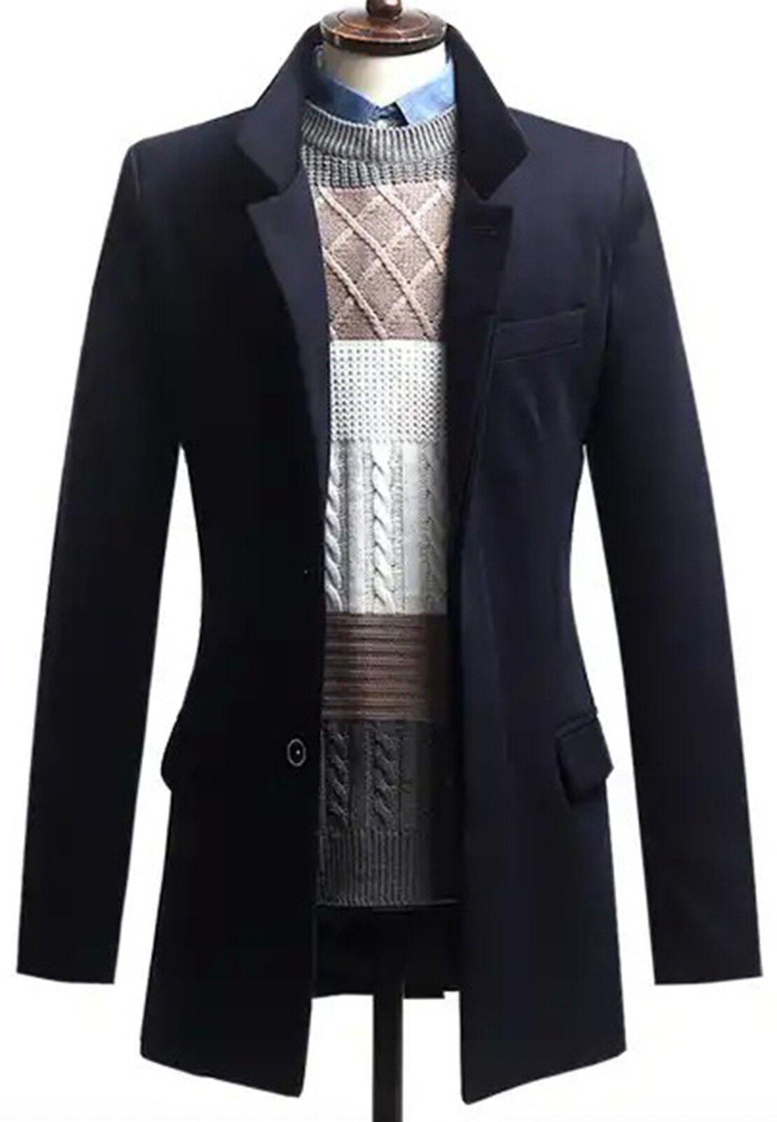 VINTAGE Uomo'S cuoio Festival nero di cuoio Uomo'S pesante, Bottoni Tasche Cappotto Giacca Taglia L 9b92f5