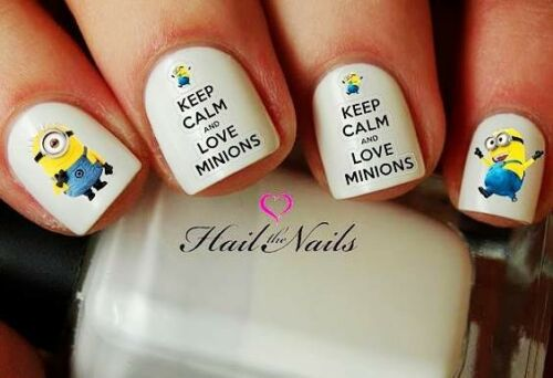 Minions Despicable Me Nail Wraps Nail Art Water Transfers Decals