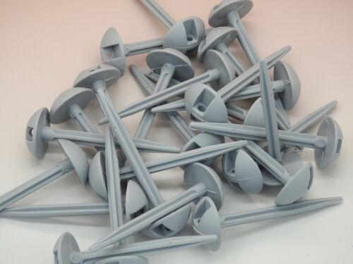 50 x Plastic Grey Ground sheet pegs Best on  camping groundsheets