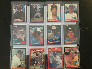 MLB 85' 86' 87' 88' 89' 90' Donruss RATED ROOKIE Card Lot (12)