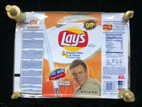 NEVER USED Star Wars Episode 1 Padawan Obi-Wan /'99 Frito-Lay Promo Bag FRAMEABLE