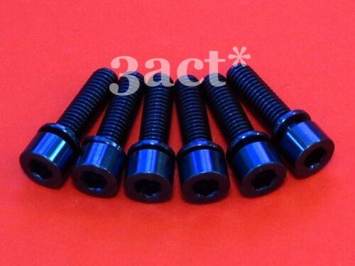 6 pcs M5 x 18mm Titanium Ti Bolts w// Ti Washer fit Thomson Elite X4 Stem Blue