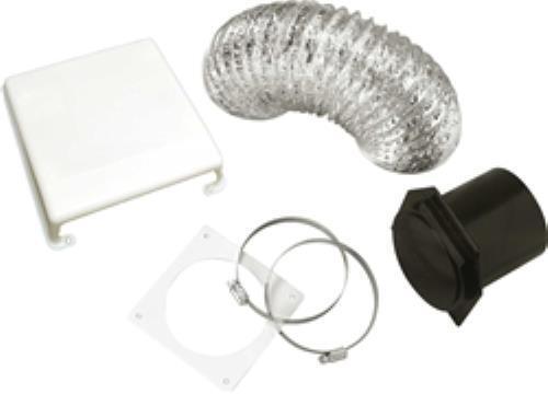 White Splendide VID403A Deluxe RV Dryer Vent Kit