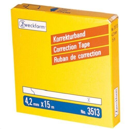 Zweckform 3513 Korrekturband im Spender permanent weiß 4,2 x 15 m 1 Rolle