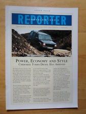 JEEP & CHRYSLER 1995 UK Mkt Newsletter Reporter Brochure - Issue 4