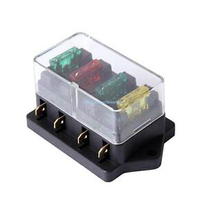 image is loading 12v-30a-4-way-fuse-blade-holder-box-