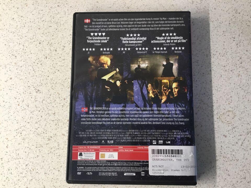 The grandmaster, DVD, action