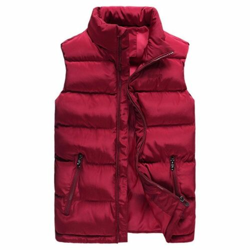Winter Vest For Men Plus Size Sleeveless Padded Warm Soft Jacket Outerwear New