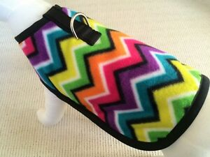 Colorful-Chevron-Fleece-Dog-Harness-Coat