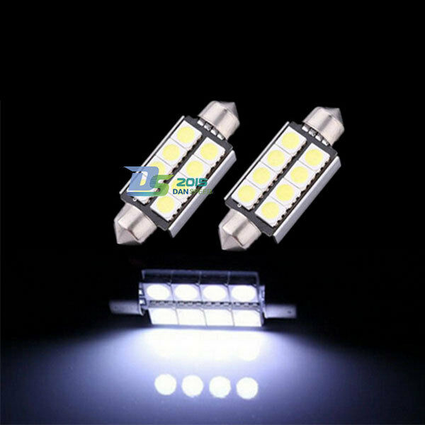 Car 8 SMD LED 5050 Car Festoon Canbus Bulb Light Interior Dome Lamp Bulb White