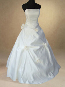 IVORY-SATIN-BRIDAL-WEDDING-DRESS-BALL-GOWN-8-10-12-14-16-18-20-HANDMADE-QUALITY