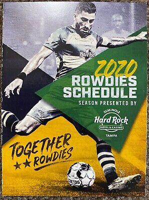 2020 tampa bay rowdies schedule cool soccer sked ebay ebay