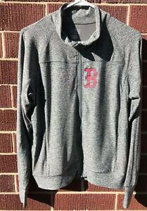Heather-Gray-Boston-Red-Sox-Women-039-s-Full-Zip-Size-Small-Lightweight-Jacket-NWT