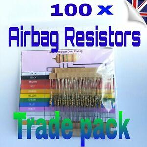 100-X-resistencias-de-derivacion-de-Airbag-todos-mezclados-hace-Pack-SRS-Mot-luz-de-error