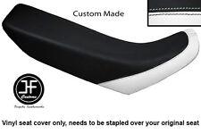WHITE & BLACK VINYL CUSTOM FITS HONDA XR 250 400 96-04 SEAT COVER ONLY