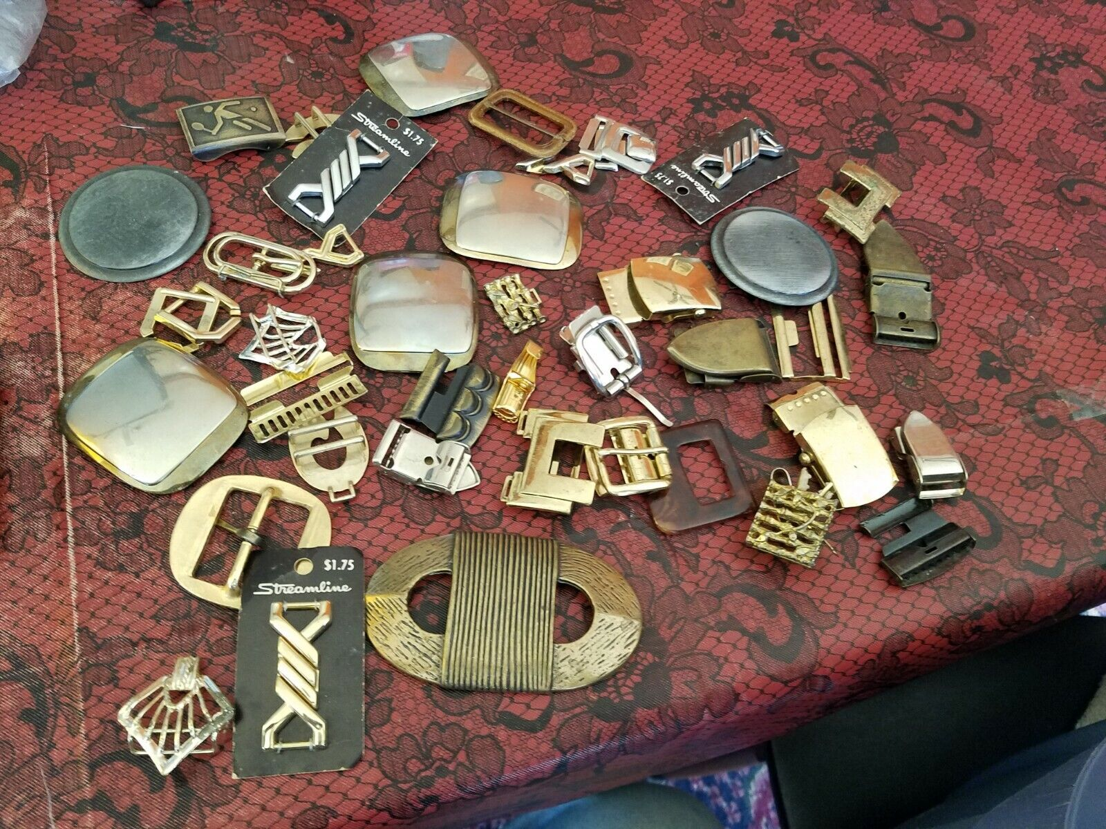 30 + Assorted Mostly Metal Women's Belt & Clothing Buckles & Accessories