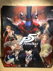 Sony PlayStation PS 4 Persona 5 Steel book Only Geo Limited Japan Japanese Good