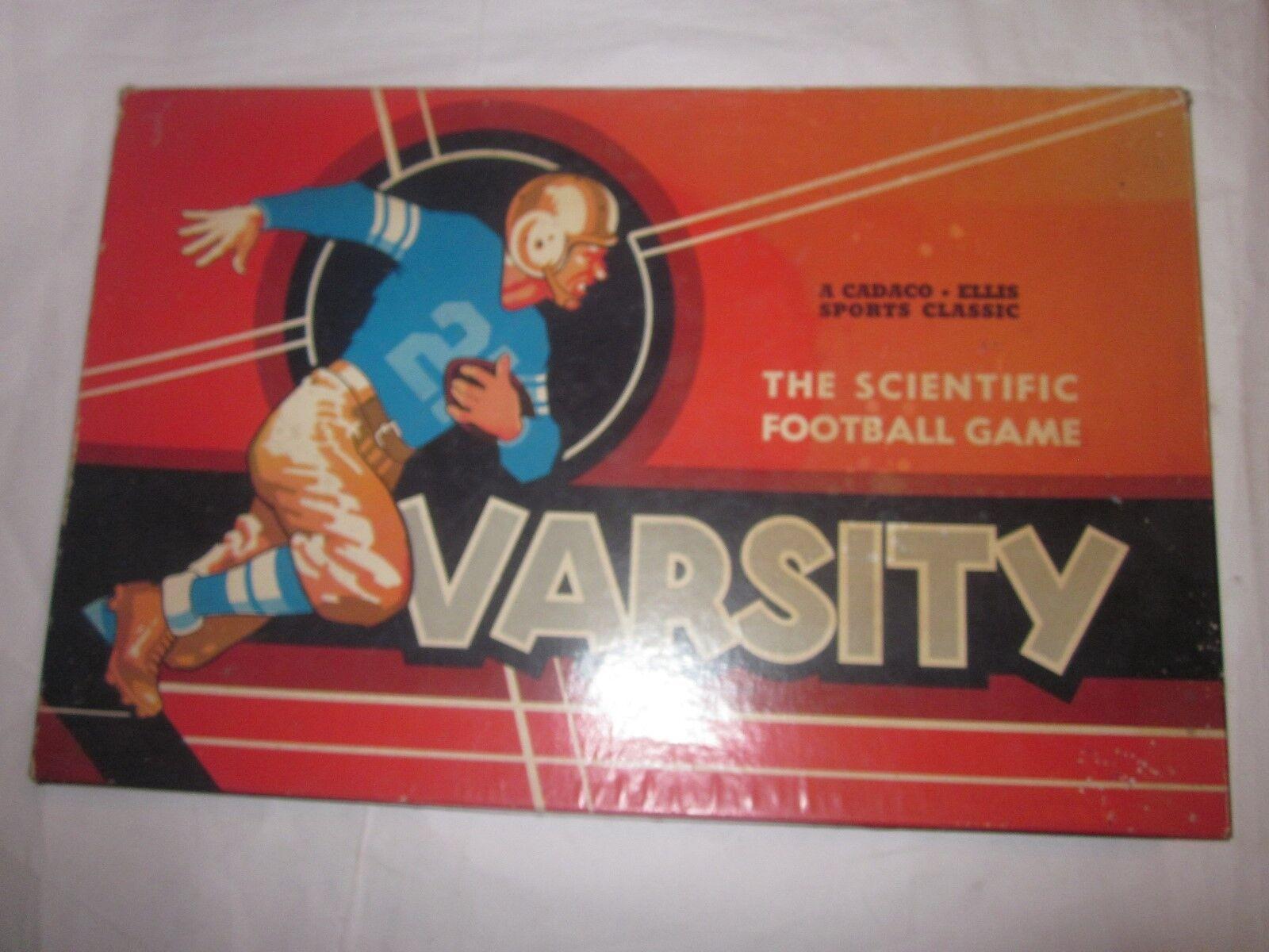 1955 Vintage Varsity el juego de fútbol científico por Cadaco Ellis Deportes Clásico