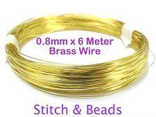 Brass Gold Jewellery Beading Wire 0.8mm x 6 Meter 20 Gauge Metal Craft Finding