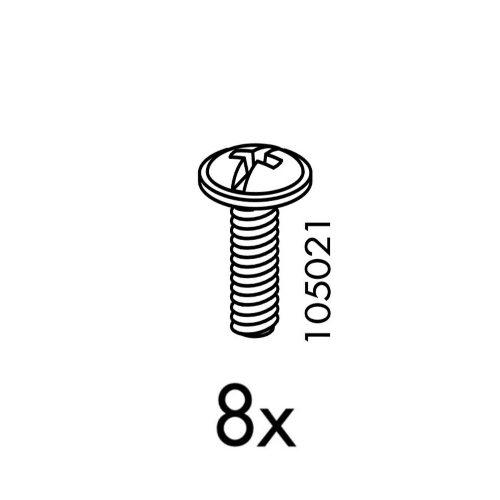 4 PACK IKEA Screw 100325 Round Head Euro Screws Steel 18mm Replacement Part