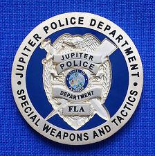 Jupiter Police Dept Special Weapons & Tactics JPD SWAT FL LEO Challenge Coin
