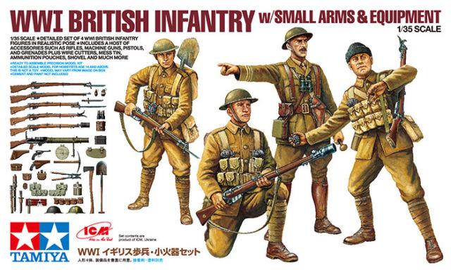 Tamiya 32409-1/35 Gmi British Infantería con Pequeño Arms & Equipment - Nuevo