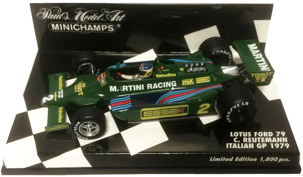 Minichamps Lotus Ford 79'Martini'Italian GP 1979 - autolos Reuteuomon 1 43 Scala