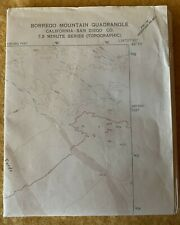 1883 CA Map Boron Borrego Springs Boulder Creek Brisbane CALIFORNIA History HUGE