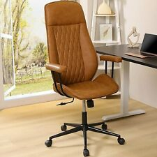 Leather Office High Back Home Desk Chair Computer Executive Ergonomic Swivel
