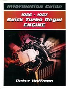 buick turbo regal engine information guide manual book specification 1986 1987 ebay. Black Bedroom Furniture Sets. Home Design Ideas